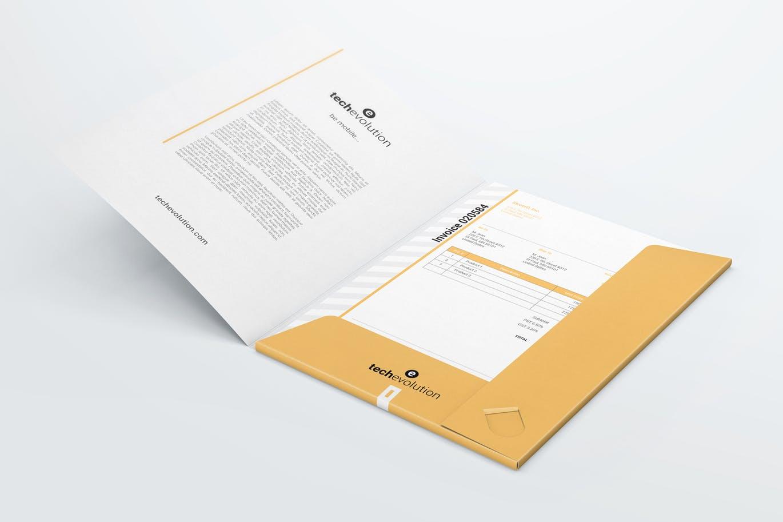 <span class='yzk_title_61372'>时尚高端房地产A4文件夹纸夹办公文具包装设计VI样机展示模型mockups</span>