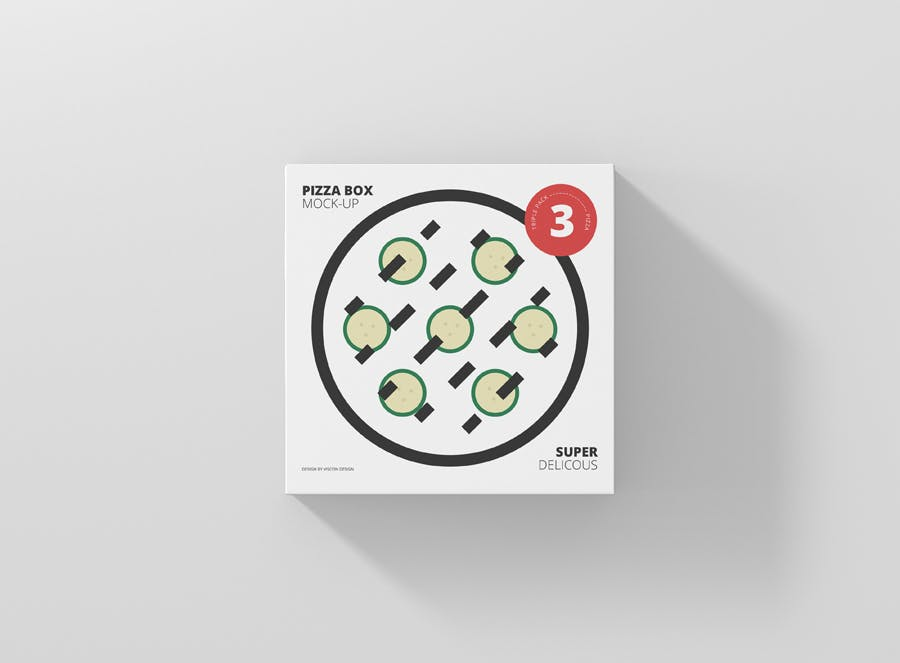 <span class='yzk_title_61434'>高品质的时尚高端逼真质感的披萨比萨pizza三层包装设计VI样机展示模型mockups</span>