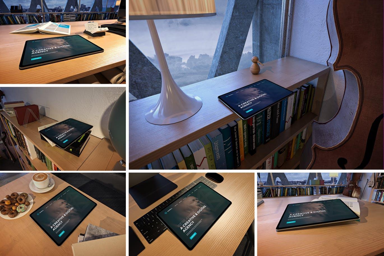 <span class='yzk_title_61660'>高品质的时尚高端商业商务办公室场景iPad Pro UI样机展示模型mockups</span>