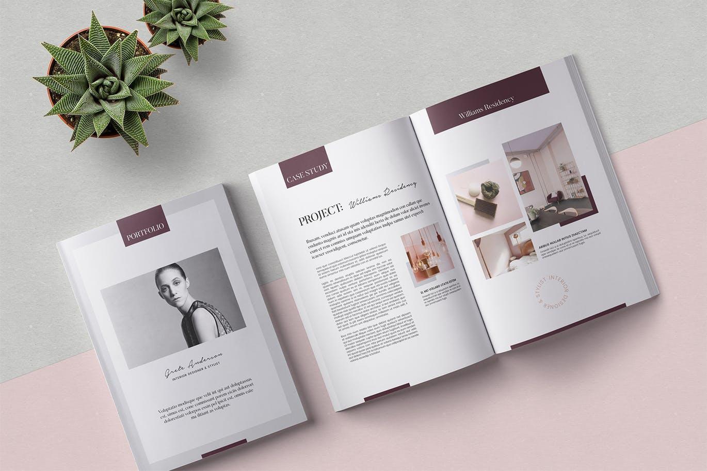 <span class='yzk_title_60999'>时尚高端简约优雅的28P完全可编辑的品牌手册画册房地产楼书杂志设计模板(indd)</span>