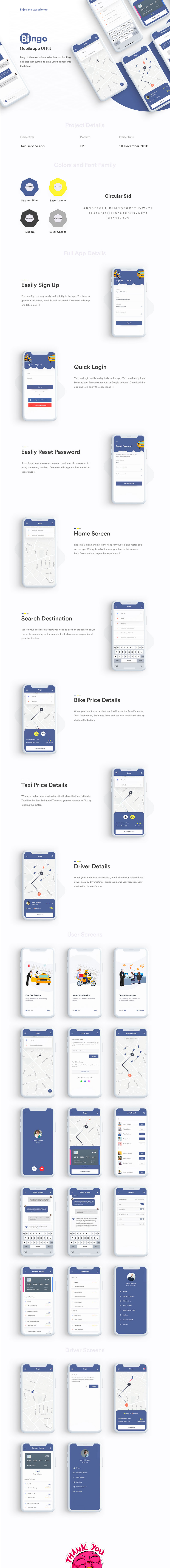 高品质带插画的打车 APP UI KIT [Sketch,PSD,XD,Fig]