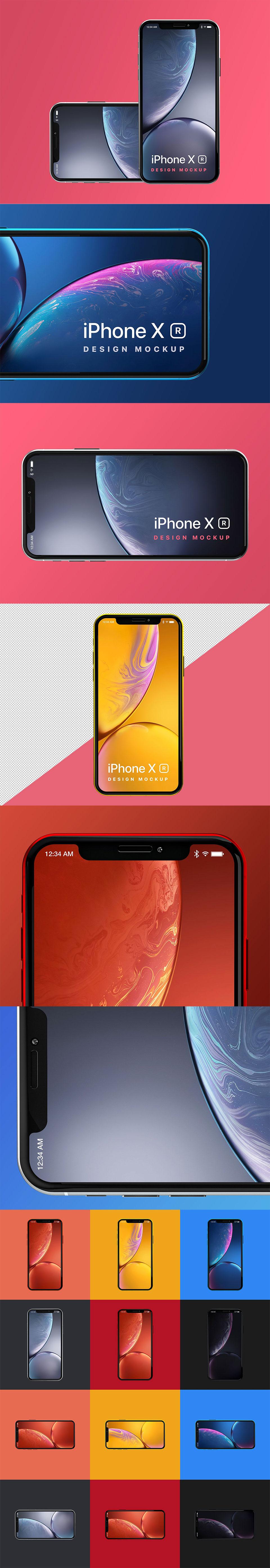 新鲜的 iPhone XR 样机下载 [PSD]
