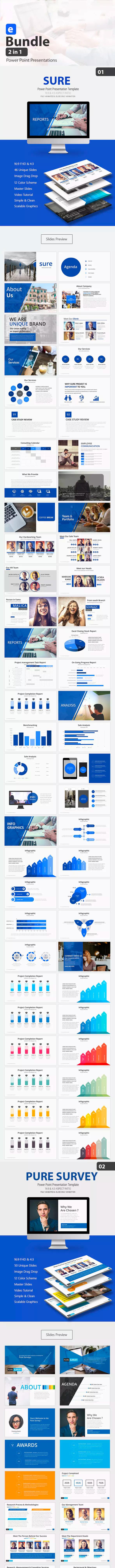 蓝色科技企业高端的商业PPT模板下载 [PPTX]