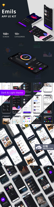酷炫的 iPhone X 多功能时尚 APP UI KIT 套装模板下载 [Sketch]