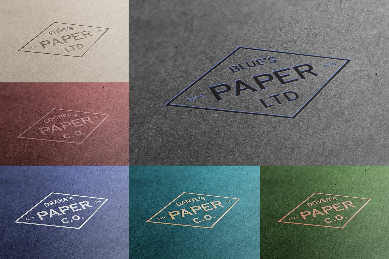 逼真质感的高品质纸质logo标志设计VI样机展示模型mockups – 云瑞设计