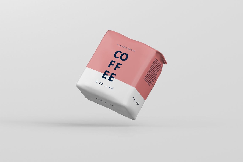 <span class='yzk_title_64908'>小尺寸的高分辨率完全可定制咖啡纸袋包装设计VI样机展示模型mockups</span>